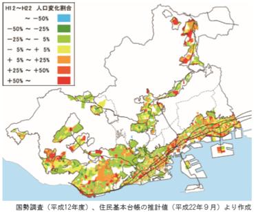 神戸市の都市計画によってしないでの二極化が顕著に